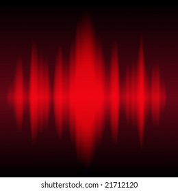 Red sound waves