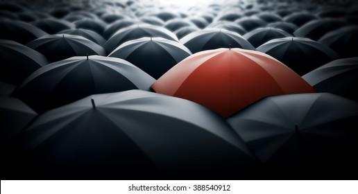 Red special umbrella, special one concept