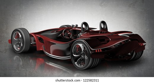 red sport car Concept (No trademark. it is design and the 3d model completely exclusive it is developed and made personally me) High resolution 3d render