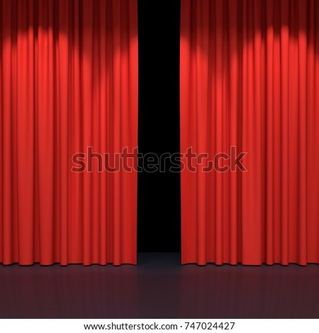 red stage curtains luxury red velvet stock illustration 747024427