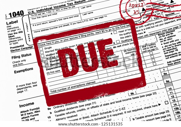 Red Stamp On Income Tax Form Stock Illustration 125131535