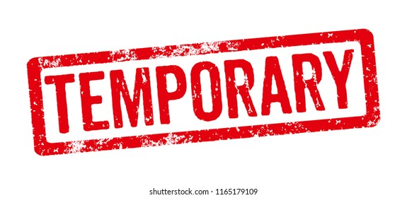 Red Stamp on a white background - Temporary