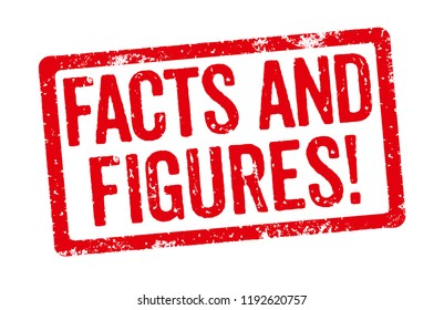 Red Stamp on a white background - Facts and Figures