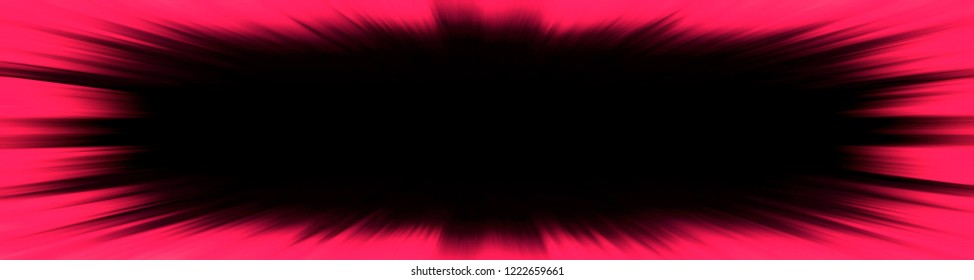 Red starburst explosion banner with a black copy space centre