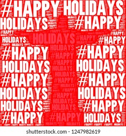 Red statue jesus silhouette with happy hoidays words together image