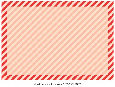 Red stripes around the perimeter of the sheet with the highlighted area for the message in the center. Modern background for cards, greetings, banners. Red, pink color.