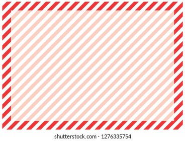 Red stripes around the perimeter of the sheet with the highlighted area for the message in the center. Modern background for cards, greetings, banners. Red, pink, white color.