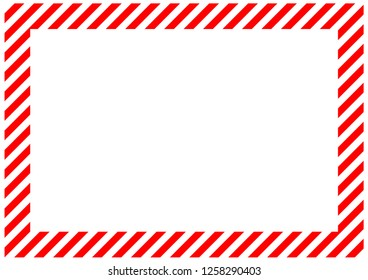 Red stripes on the perimeter of the sheet. Modern background for cards, greetings, banner. Red, white color.