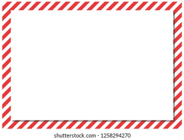 Red stripes on the perimeter of the sheet. Modern form for cards, greetings, banner. Red, white, gray color.