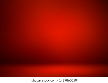 Red studio 3d background. Vignette pattern. Abstract graphic. Dramatic decor. Impressive matte template.