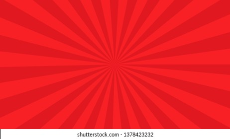 Red Sunburst pattern. sunrise background. Radial rays background. Retro sunburst background template