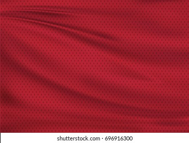 Red textile sports background, illustration