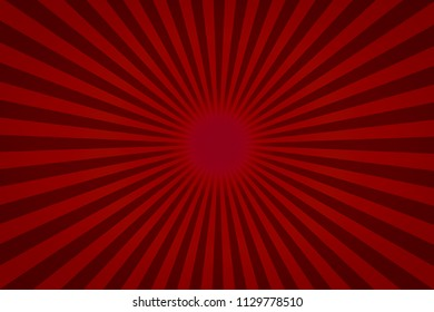 Red Texture Background With Sunburst, Illustration