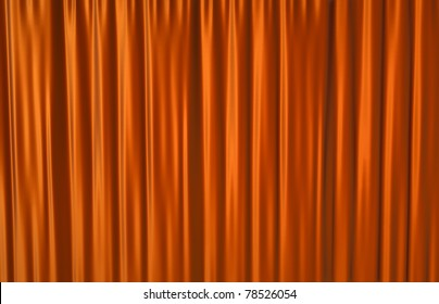 Red theater curtain background. 3D rendered illustration.