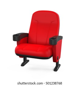 Red Theater Seat. 3D rendering
