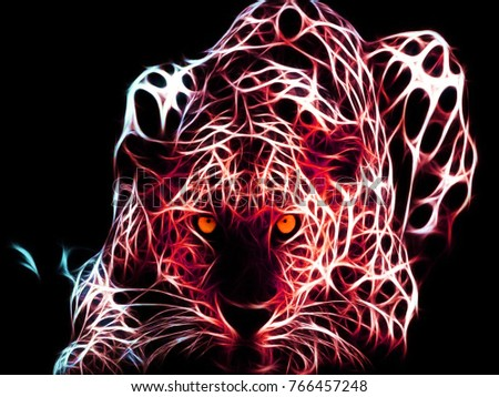 Red Tiger Wallpaper Stock Illustration Royalty Free Stock