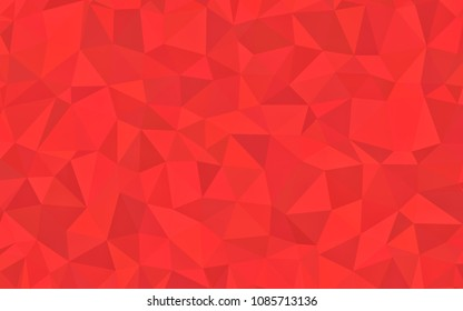Red tone triangular polygon geometric  grains texture, illustration background abstact, Mosaic background.
