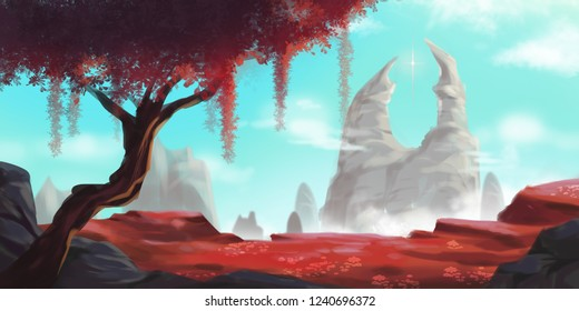 Animation Concept Art Background