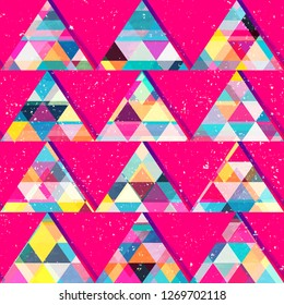 Red triangles seamless pattern