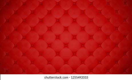 Red upholstery. Leather or silk background. Capitone. High resolution.