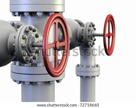Red Valve On Oil Gas Pipe Stock Illustration 72718660 Shutterstock