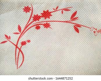 Red wallprinted designer photo image