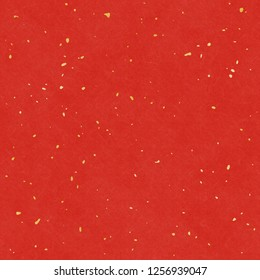 Red washi with gold leaf