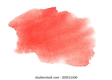 Red watercolor brush strokes - space for your own text