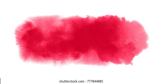 Red watercolor texture with watercolour blotch and paint splashes for Valentine background