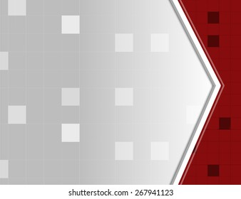 Red and white abstract square pixel mosaic background
