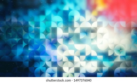 Red White and Blue Abstract Quarter Circles Background Image