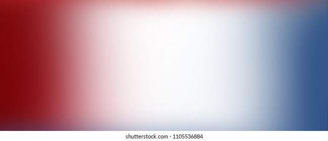 red white and blue background banner with soft blurred smooth texture for July 4th; Memorial Day; and other patriotic holidays with blank center to add your own text or image.