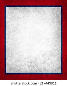 red white and blue background paper, vintage texture layered border design