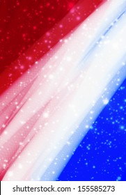 Red White and Blue Sparkle Background