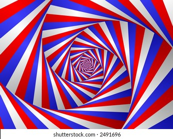 red white and blue spiral