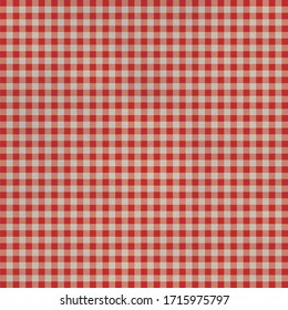 Red, white checkered table cloth, illustration