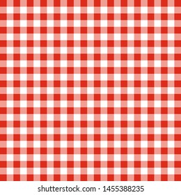 Red and white color boxes cloth