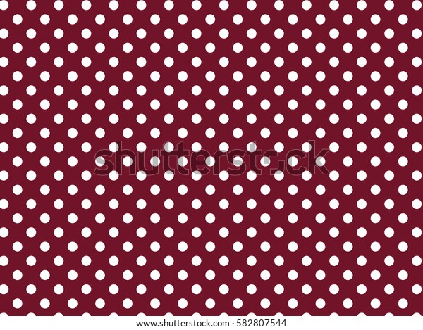 Red white dots pattern