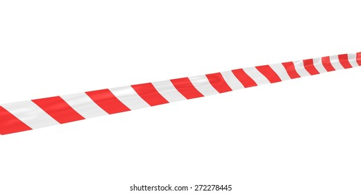 Red and White Striped Barrier Tape at Angle