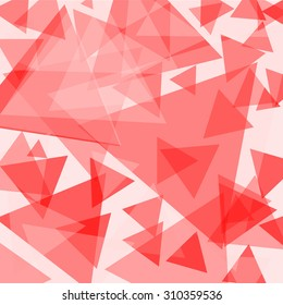 red and white triangle background