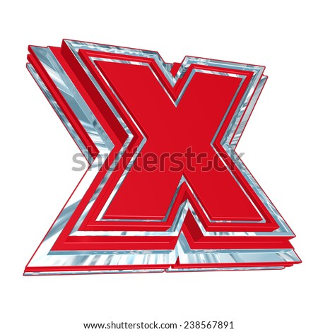 Red X Vote Symbol 3 D Text Stock Illustration 238567891 Shutterstock