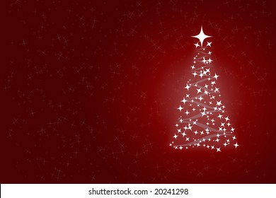 red xmass greeting card with free space for text