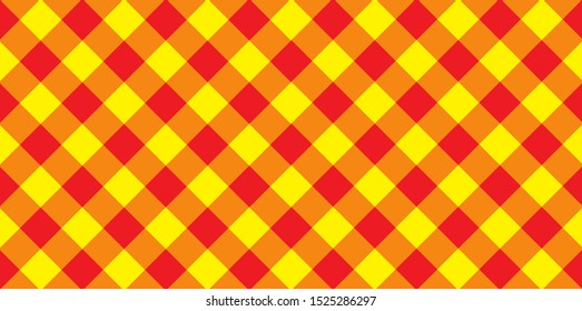 A red and yellow criss cross hatch background