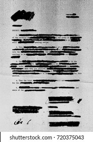 Redacted letter with photocopy texture background