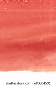 Red-coral watercolor background, Tender pink spot