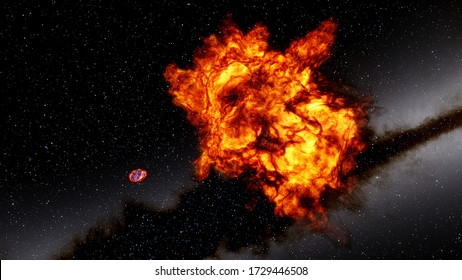 red-violet nebula in outer space, horsehead nebula, unusual colorful nebula in a distant galaxy, space background, colorful cosmic background 3d render