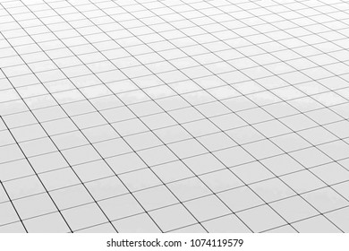 reflection on monochrome tles- CG image