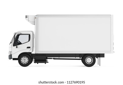 Refrigerated Truck Isolated. 3D rendering