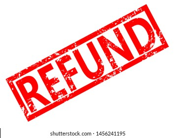 refund stamp red rubber stamp on white background. refund stamp sign. refund sign.