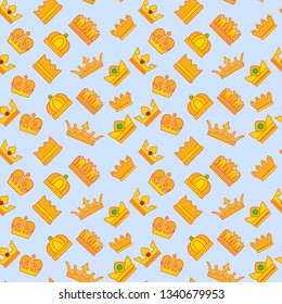 Regal pattern seamless. Cartoon of regal pattern seamless for web, poster and wrapping paper